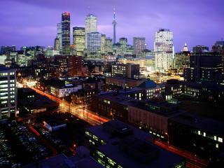 обои Ночной Toronto Skyline,   Ontario,   Canada фото