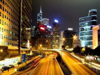 обои Ночной азийкий город фото