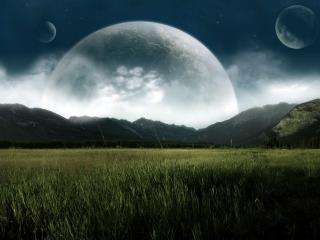 обои Планеты и луга фото