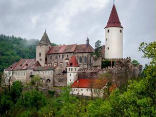 обои для рабочего стола: Замок Кршивоклат. Чехия