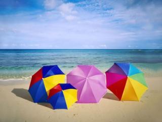 обои для рабочего стола: Зонты и море