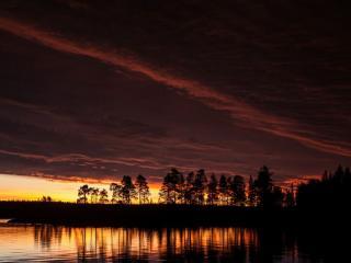 обои Карельская ночь. Река Воньга фото