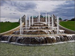 обои Каскадный фонтан в парке Бельведера. Вена фото