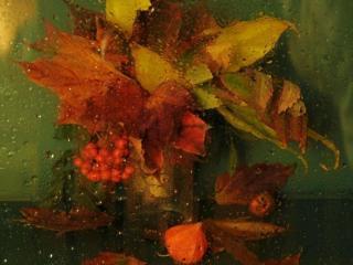 обои для рабочего стола: Осенний дождь роняет слезы