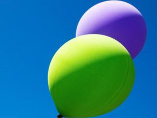 обои Зелёный и фиолетовый фото