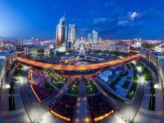 обои Ночная Астана фото