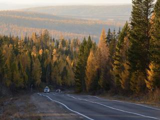 обои Дорога от Ольхона на Иркутск фото
