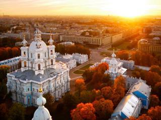 обои Санкт-Петербург в осеннем убранстве фото