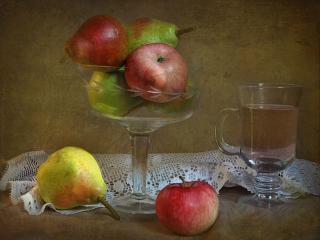 обои Яблоки,   груши и сок фото