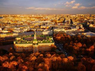 обои Золотая осень в Петербурге фото
