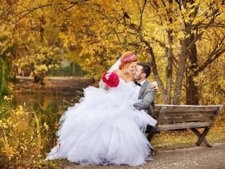обои для рабочего стола: Осенняя свадьба