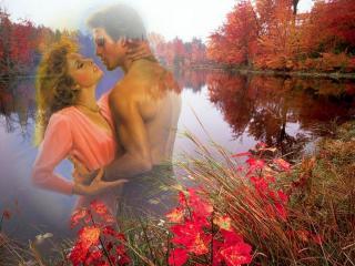 обои Осеннее счастье фото