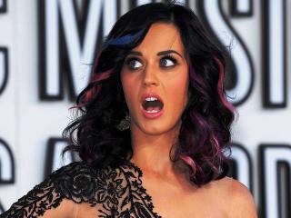 обои Katy Perry открыла рот фото