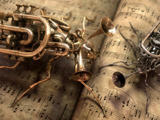 обои Музыкальные насекомые фото