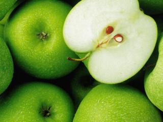 обои Зеленые сочные яблоки фото