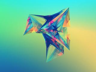обои для рабочего стола: Разноцветный кристалл