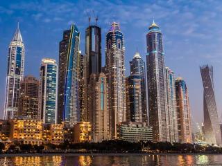обои для рабочего стола: Вечерний Дубаи