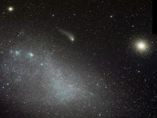 обои Комета и туманность фото