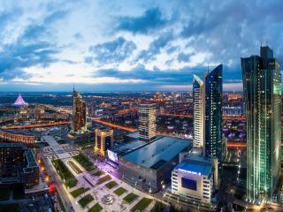 обои для рабочего стола: Утренняя Астана