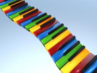 обои Разноцветные клавиши фото