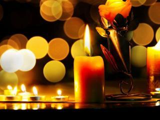 обои Блики свечи фото