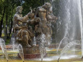 обои Кремлевский парк. Фонтан Садко фото