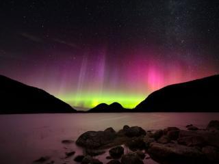 обои Сияние над национальным парком Акадия,   штат Мэн,   США фото
