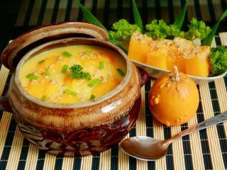 обои Тыквенный суп с говядиной и фасолью фото