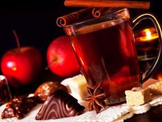 обои Чай с цикорием и конфетами фото