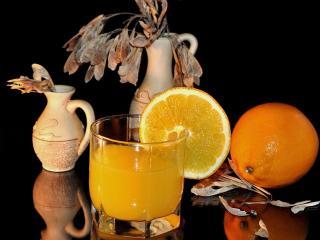 обои Апельсин,   сок и клён фото