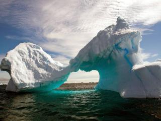 обои для рабочего стола: Трёхцветные айсберги