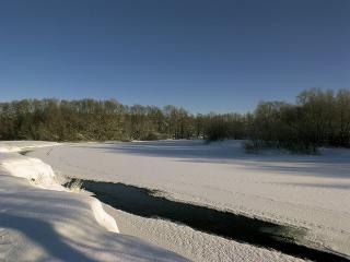 обои Зимняя полынья фото
