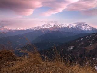 обои Первый снег в горах фото
