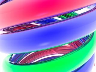 обои Переплетение синего,   зеленого и красного цветов фото