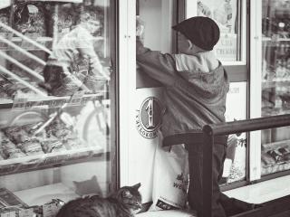 обои Интересные моменты черно-белых снимков фото