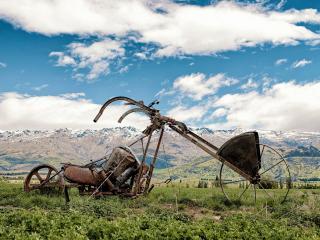 обои Горный велосипед из металлолома фото