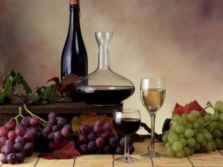 обои Вино и виноград фото