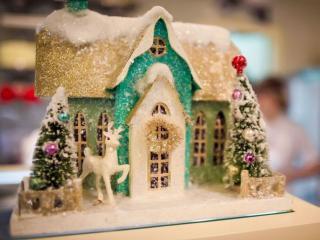 обои Сладкий домик новогодний фото