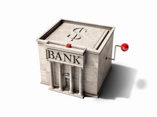 обои Карикатура на банковскую систему фото
