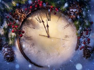 обои Время новогоднее фото