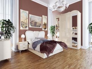обои Коричнево-белая спальня фото
