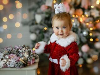 обои Новогодняя принцесса фото