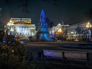 обои для рабочего стола: Памятник Екатерине II в Санкт-Петербурге