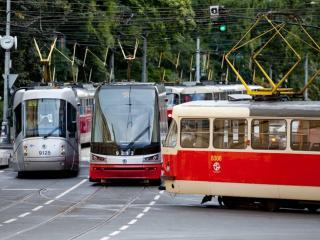 обои Пражские трамваи фото