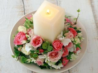 обои Праздничная свеча фото