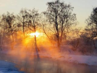 обои Рождение зимнего дня фото