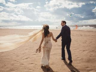 обои для рабочего стола: Свадьба у моря