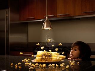 обои Пацан печет кукурузу лампочкой фото
