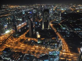 обои для рабочего стола: Ночь в Дубае