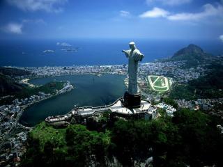 обои для рабочего стола: Статуя Христа Искупителя - символ Бразилии